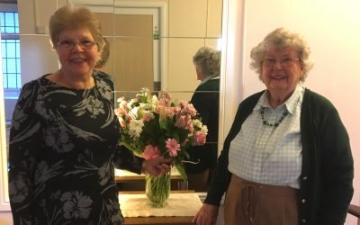 Bouquet for House Manager Jean Thompson