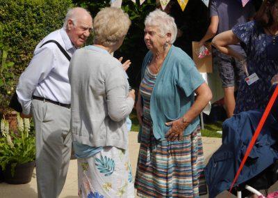 Gordon Davies (resident), Joy Pickup (family) and Jean Thompson (house manager)