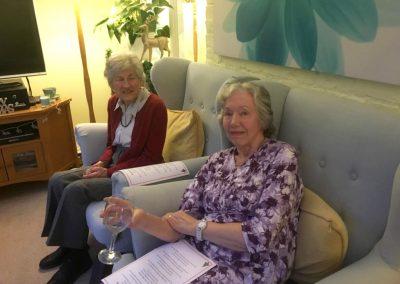Mulgrave House Resident Margaret Parnell (back) with volunteer Alison Rodda